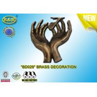 Buy cheap No. BD029 Brass hands tombstone decoration bronze funeral accessories size 17.5*10 cm  copper alloy product