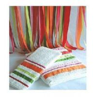 Quality Solid Bath Towel With Stripe Border - 5 for sale