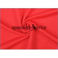 Quality Red Underwear Lycra Polyester Spandex Fabric 180gsm Weft Knitted Fabric for sale
