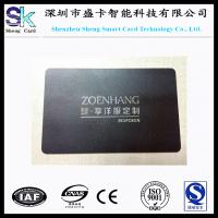 Quality Stainless Steel Black Matt Metal Business Card for sale