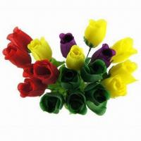 Quality 11 Single Stem Plastic Rose Gift Flowers for sale