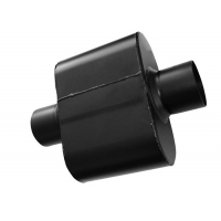 Quality Black Painted Ss409 2.5 In Single Chamber Race Muffler for sale