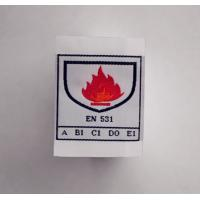 China FR woven label for flame retardant clothing on sale