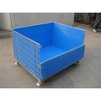 Quality moveable big wire iron storage cage plastic cage for sale