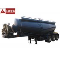 Quality Waterproof Dry Bulk Cargo Trailer , Dry Bulk Cement Trailers With Fluidized Belt for sale