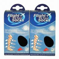 Quality Graduated Compression Stocking of Flight Socks Prevent Lower Limbs Varicosity and Sport for sale