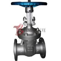 Quality Din Flanged Carbon Steel Gate Valve GS-C25 Metal Seat Hardfaced Half / Full Stellite for sale