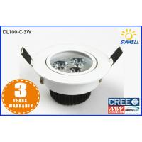 China Super brightness High Lumen Led Downlight dimmable 3w 3 inch white led downlight on sale