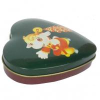 China Mini Heart Shape Chocolate Tin Box , Sweet Candy Container Box With Lid on sale