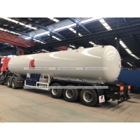 Quality 49600liters LPG Semi Trailer 25tons Propane Cooking Gas Road Tanker Trailer for sale