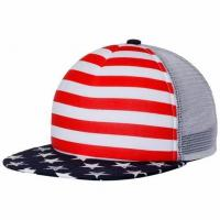 China Summer Season Mesh Snapback Hats Embroidery Patch Logo Washes Visor Type Breathable on sale