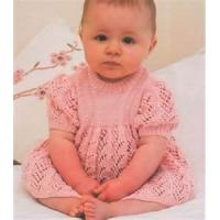 China Acrylic - cotton wholesale baby dress knitting pattern, summer baby clothes on sale