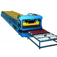 Quality Cr12 Mould Steel Cutter Roof Tile Roll Forming Machine 5.5KW ISO9001 with high production speed for sale
