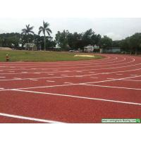 Quality Silicon PU Running Track Flooring For Gym Playground Prefabricated for sale