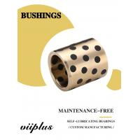 Quality C86300 430B Manganese Cast Bronze Flanged Graphite Bushing Bearing & Plate Oil Grooves for sale