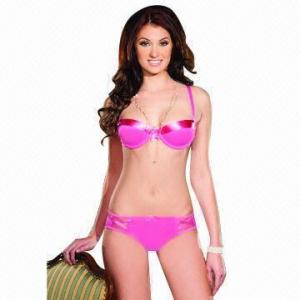 Quality Girls' bra set/bra and bikini set, OEM orders are welcome for sale