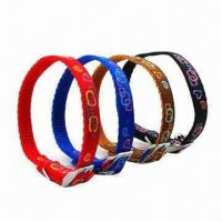 Buy cheap Red nylon dog collar, OEM orders are welcome from wholesalers
