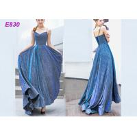 The starry sky skirt spaghetti strap a line evening formal party dress
