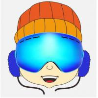 Customized Anti Scratch Blue Kids Snowboarding Goggles for Boys and Girls