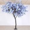 Soft Artificial Flower Tree Jacaranda Wood Bule Color Sakura Tree Branch for sale