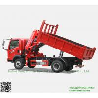 Buy cheap Custermizing 4x2 tipper truck with SQ80ZB2(3.2T) at 2 m Knuckle Boom Truck from wholesalers
