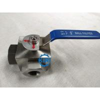 PN16 - PN160 Pressure 3 Way Ball Valve , Stainless Steel Ball Valve Easy Operation
