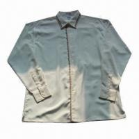 Quality Men's Long-sleeve Dyed Casual Shirt, Made of 100% Polyester, Available in Various Styles for sale