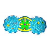 China Outdoor Games Colourful Inflatable Backyard Water Park With Two Pool / Water Slide on sale