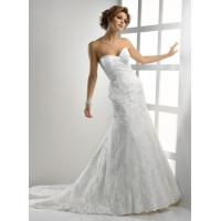 Quality Gorgeous Romantic Lace Wedding Gowns , Sweetheart Strapless Mermaid Dress for sale