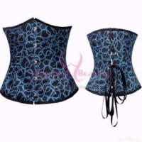 Quality Blue Steel Boned Corset for sale