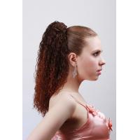 Quality Dark Brown Curly Synthetic Pony Tail Wigs and Extensions for Women for sale