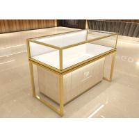 Quality Luxurious golden jewelry display showcase fashion jewelry shop decoration design with display cabinet for sale