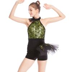 Buy cheap Biketard Jazz Costume Dance Wear Sequins Gymnastics Performance Dance Competitio from wholesalers