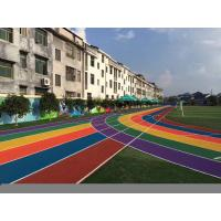 Buy cheap High Elasticity EPDM Crumb Rubber / Rubber Running Track Flooring from wholesalers