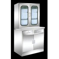 China Professional Stainless Steel Medical Cabinet , Glass Door Medicine Cabinet on sale
