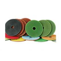 China 100mm granite flexible diamond polishing pads wet polishing use on sale