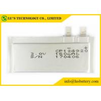 Quality CP124920 160mAh 3.0V Ultra Thin Lithium Ion Battery For Remote Monitoring Systems for sale