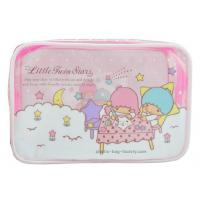 Buy 0.25mm Transparent Zipper Cosmetic Bags Cartoon Character Pattern For Travelling at wholesale prices