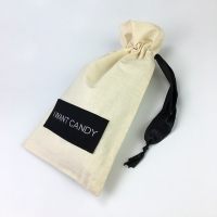 Buy Sewing Label Logo Cotton Drawstring Candy Packaging Bags at wholesale prices