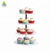 Quality Square Dessert Cupcake Tower Acrylic Cake Stand High hardness and flatness for sale