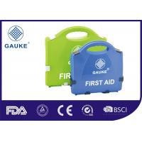 Quality General Purpose Medical First Aid Kit Empty First Aid Box in Green Blue for sale
