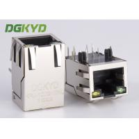 China 1x1 single port RJ45 Ethernet Connector 100Mb cat 5 manetic modular jack G/Y led on sale