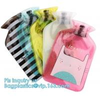 Winter Outdoor Pvc Hot Water Bottle Bag, pvc hot water bag fomentation, Water Bottle Ice Bag With Knitted Covers, water