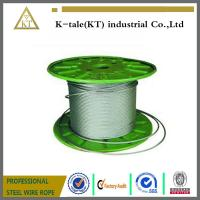 Quality 7x19-10mm soft ZINC steel wire rope manufacturer with certificate/ 7x19 wire rope with metal hardware for sale