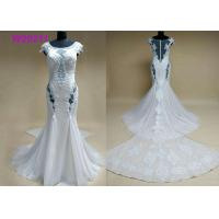 Quality High-end Sexy Lace Up Sleeveless Appliques Beading Mermaid Wedding Dresses for sale