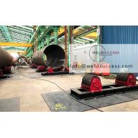 Quality 100T Tank Turning Rolls , Pipe Roller Stand With Wide PU Wheel Steel Band for sale