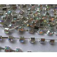 Quality chain stones /cup chain glass stones crystal AB for sale