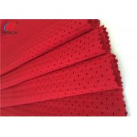 China Red Color 100 % Polyester Mesh Fabric For Sports / Office Chair ,Eco - Friendly on sale