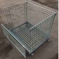 Quality Custom Size Stacking Pallet Racks , Industrial Wire Containers For Bulk Materials Handling for sale