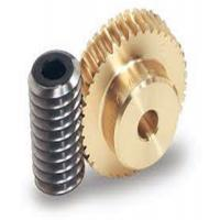 Quality One Thread Steel Screw Shafts Spiral Bevel Gear Brass Worm Gears For Motors for sale